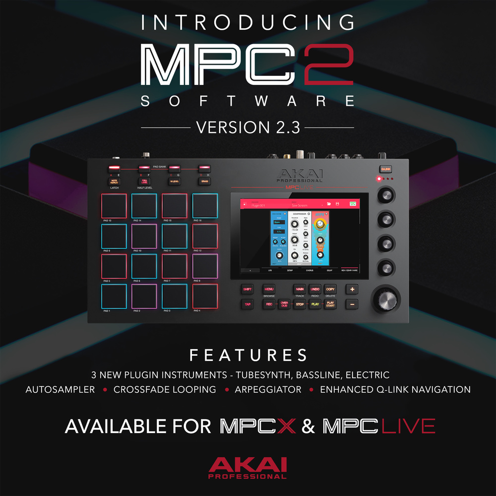 Akai's MPC 2 3 update adds three new synths and autosampling