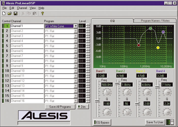ALESIS PROLINEAR DSP DRIVERS FOR WINDOWS MAC