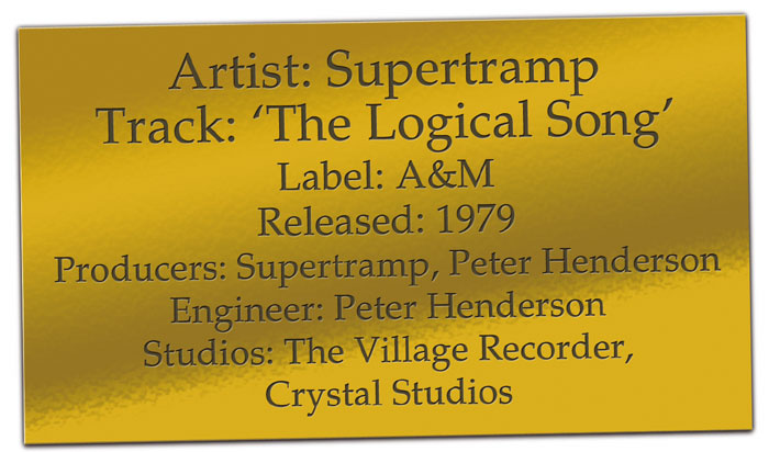 CLASSIC TRACKS: Supertramp 'The Logical Song'
