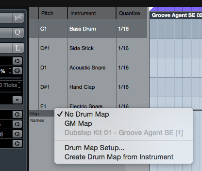 Cubase's MIDI Drum Editor