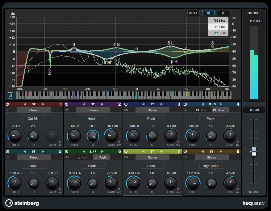 Cubase Pro: Frequency EQ