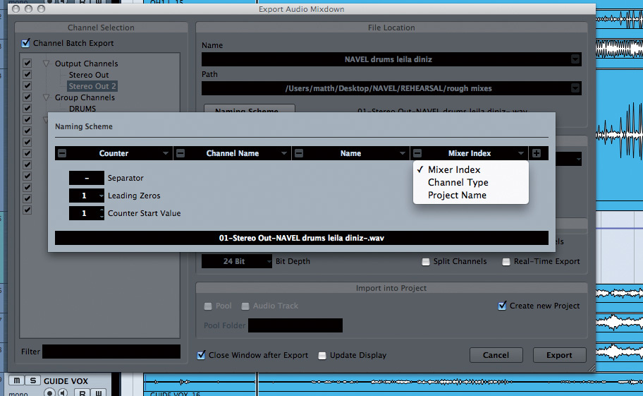 Multitrack Batch Export In Cubase