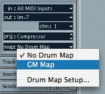 Using Cubase Drum Maps