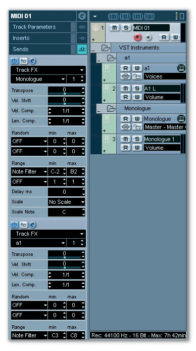 MIDI Tracks & Keyboard Functions
