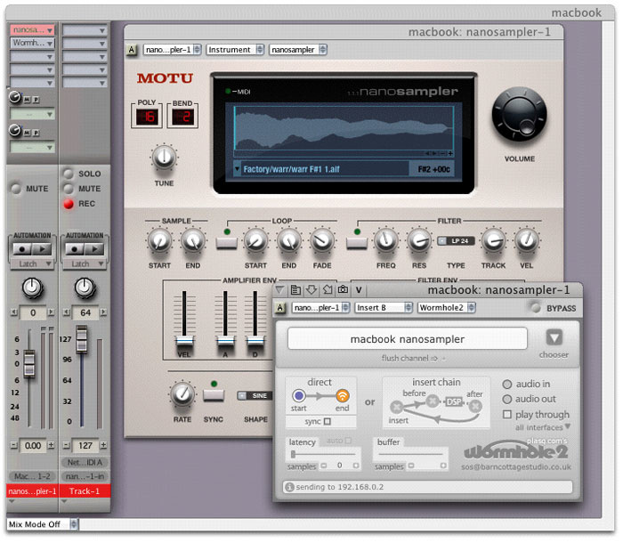 Audio Networking With Digital Performer