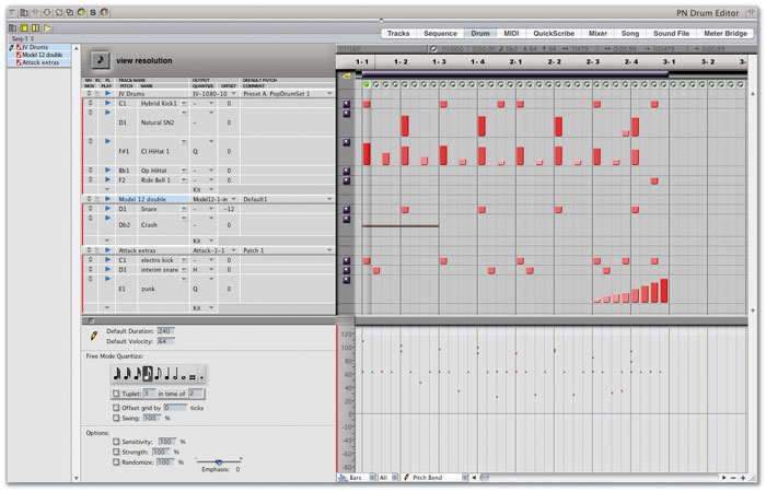 Digital Performer's Drum Editor