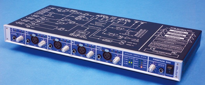 RME FIREFACE 800 AUDIO INTERFACE DRIVERS PC