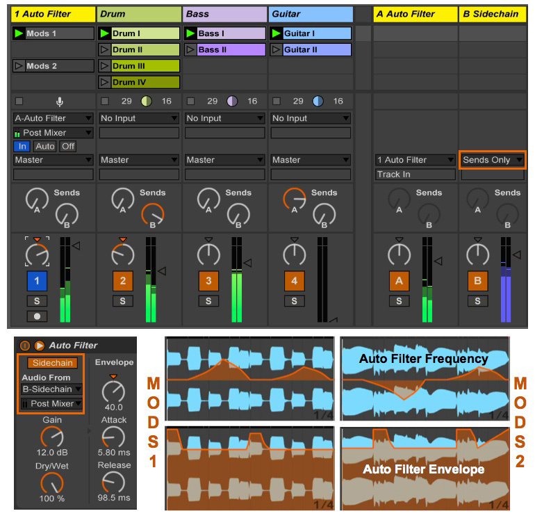 Ableton Live: Audio FX Returns