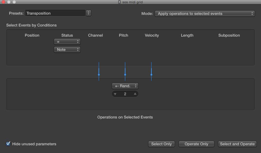 Logic: Scale Quantise & MIDI Transposition