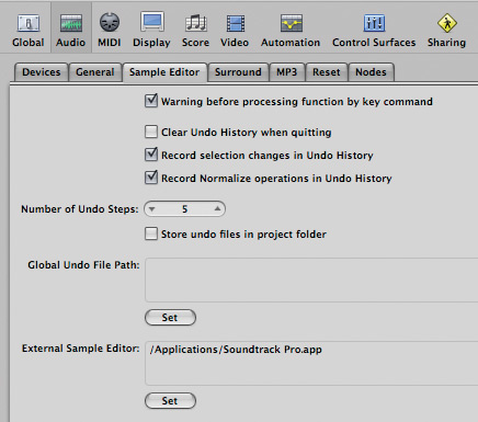 logic pro sample editor