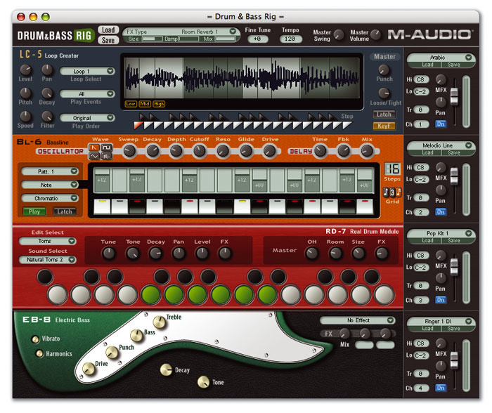 M-Audio Key Rig/Drum & Bass Rig