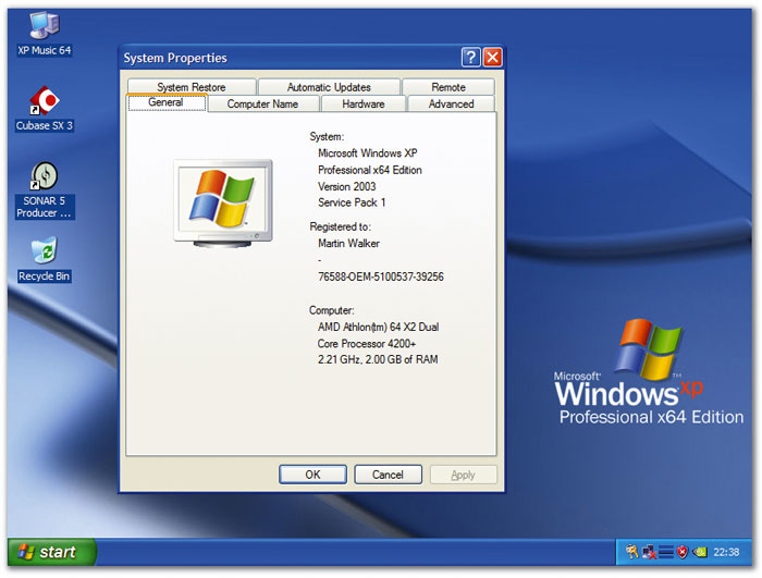Window xp professional sp2 key generator