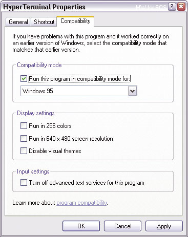 Running Legacy Software Under Windows XP