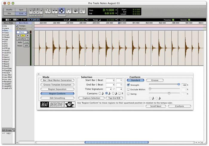 Pro Tools: Using Beat Detective
