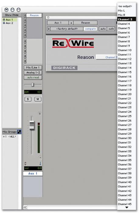 Using ReWire In Pro Tools