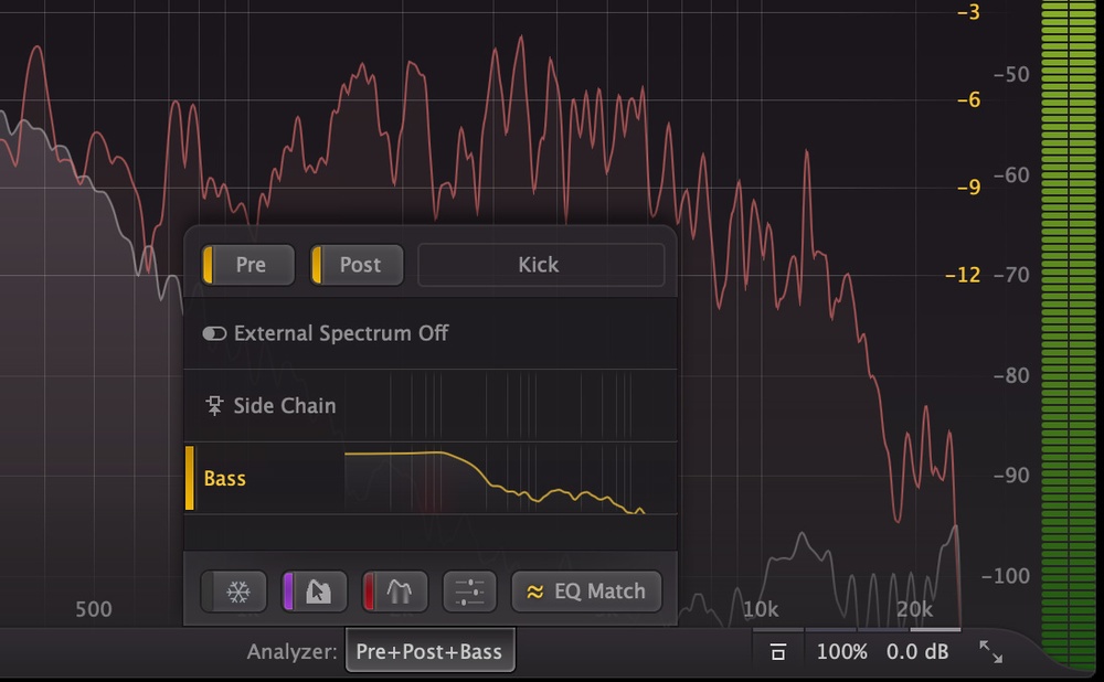 Q  How do I use the match EQ facility in FabFilter Pro-Q when