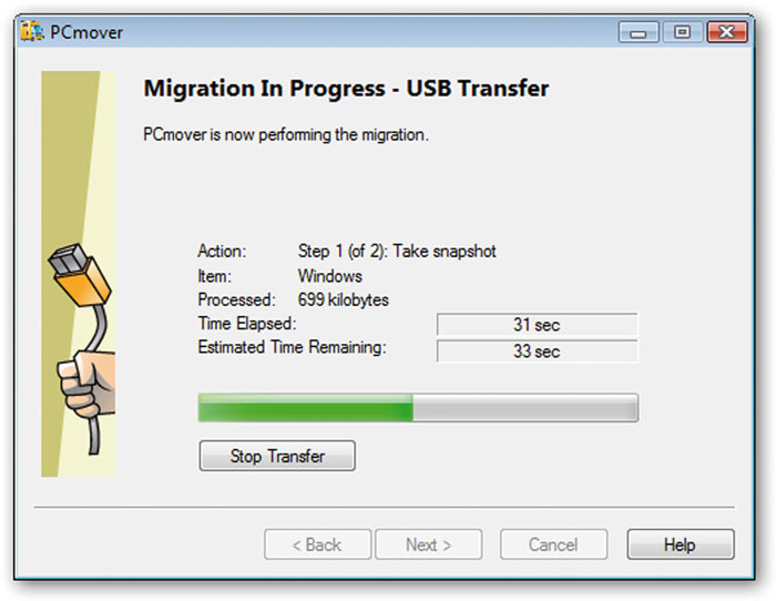 Q  What's the best way to transfer software to my new PC?
