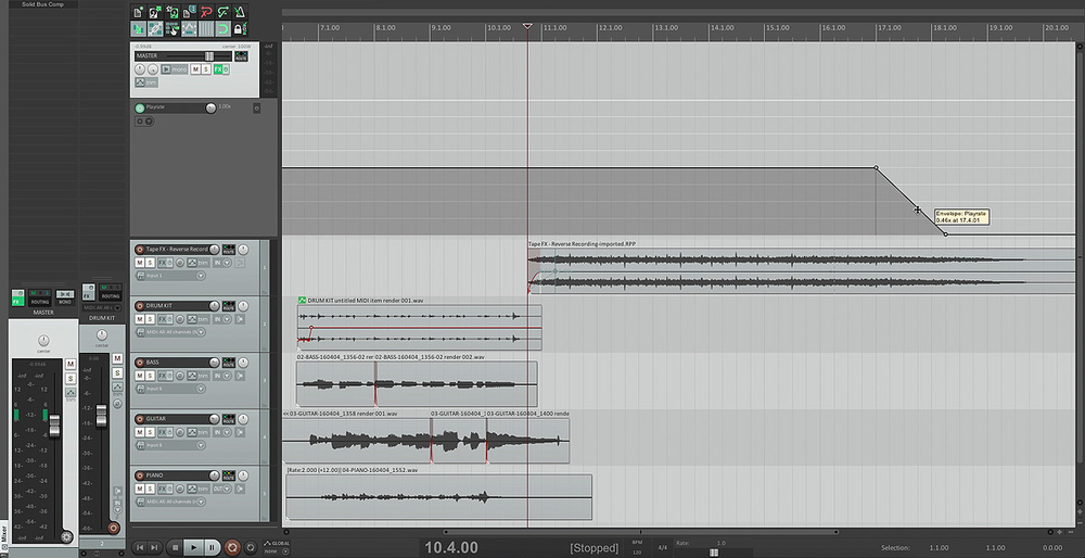 Tape Effects In Reaper