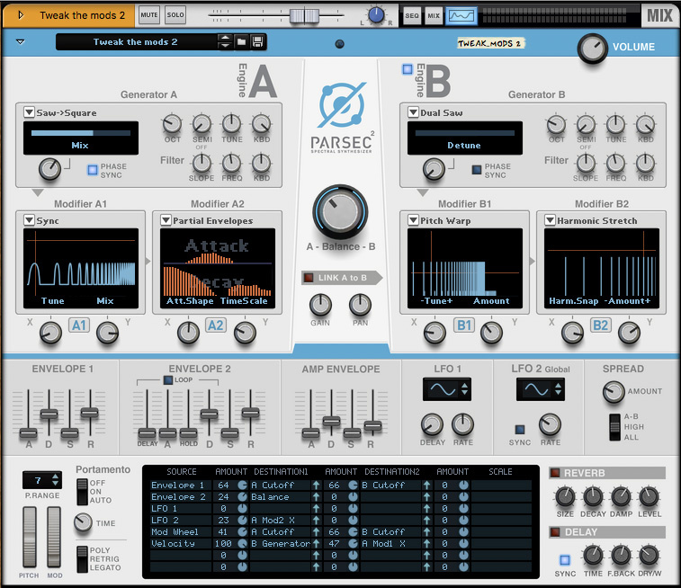 Reason: Parsec 2 Additive Synth