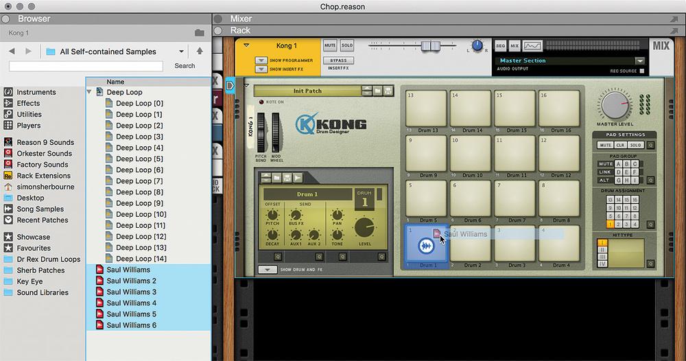 Reason 5 sampling with kong record 1. 5 youtube.