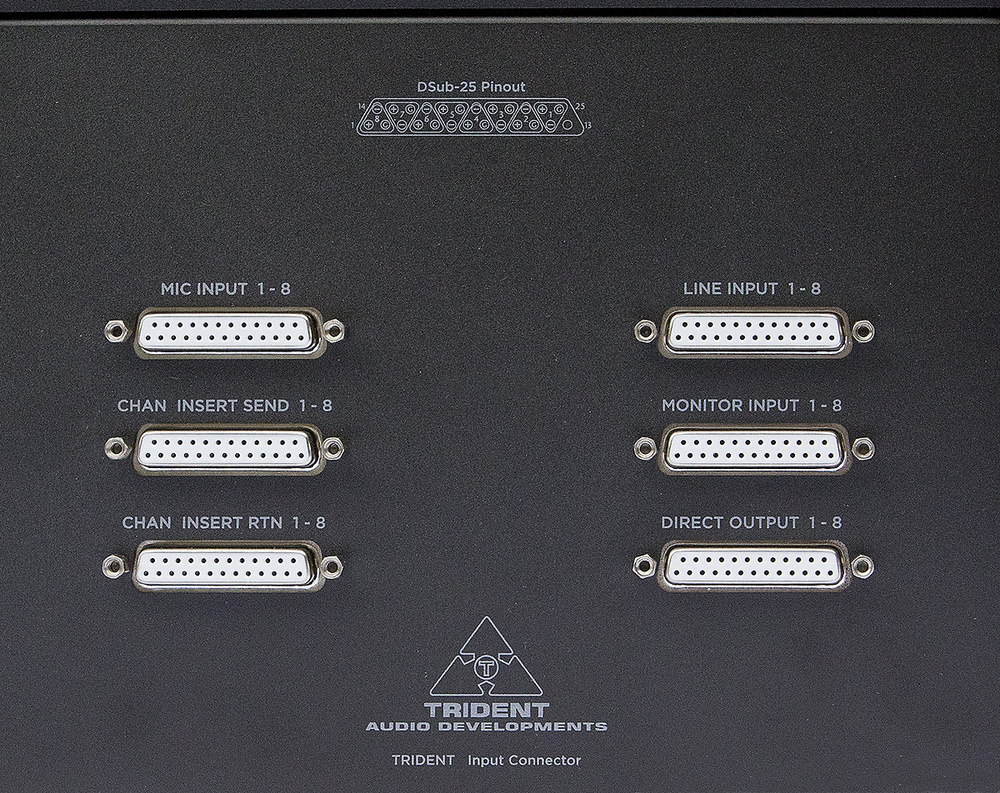 Trident Audio Developments 78 Series An Easy To Use Led Bargraph Display Monitor Levels Circuit All Input And Sub Group Connections Are On D Subs Which Cuts Costs