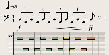 diagram 1: a banging timpani pattern from richard strauss' also sprach  zarathustra