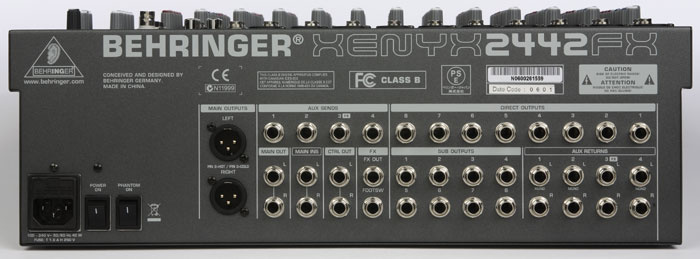 Behringer Xenyx 1832FX User Manual - Page 1 of 12 ...