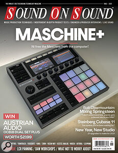 SOS (North America Edition) January 2021 front cover image showing Native Instruments Maschine+
