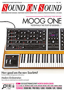 SOS August 2019 Moog One front cover.