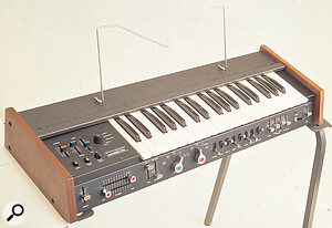 The Korg 700S — more expensive, but altogether more powerful, with a second oscillator and enhanced modulation facilities.