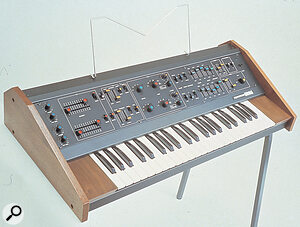 The Korg 800DV — in essence, two Korg 700S synthesizers in one, with a full complement of controls for each.