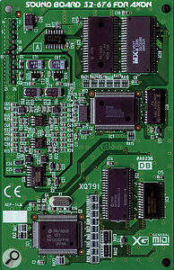The optional on‑board voice card offers 480 XG sounds.