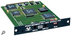 The optional ADAT plug‑in card.