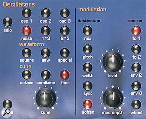 The Supernova Oscillator section offers Waveform, Tune and Modulation controls.