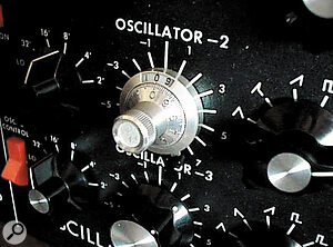 Moog Music have chosen not to include a number of improvements, like the addition of locking pots for oscillator tuning, which are frequently made to original Minimoogs (this one is Nick Magnus's modified Mini).