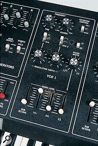 Octave CAT VCO1 controls.