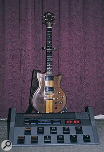 The GR700 was designed to be used with the bizarre‑ looking G707 guitar controller. Fortunately, though, it also works with earlier Roland controllers like this G808.