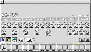 Electronic Cow get the look right with their EC909 TR909 emulator.