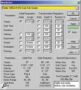This small window is the nerve centre of the entire style‑enhancement process, and provides a wide range of customisation options (see main text).