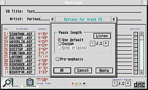 CDWriter Plus can now use the new 80‑minute CD blanks.