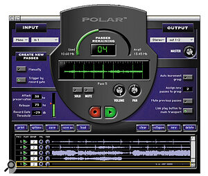 DP's new POLAR RAM‑based loop recording system is easy‑to‑use and highly functional. Here it's being used in conjunction with a previously recorded sequence to try out various vocal harmonies and add those all‑important finger clicks.