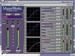 Also new to the pack is the MasterWorks multi‑band compressor.