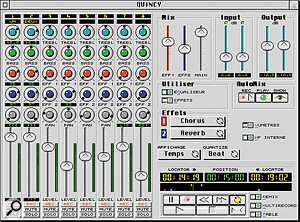 For Falcon owners, QUiNCY's mixer page offers a familiar multitracker interface.