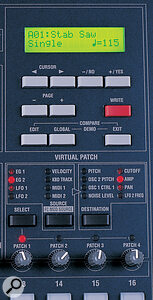 The Virtual Patch system is a modulation matrix which is clearly intended to capture some of the flexibility of Korg's classic patchable MS‑ and PS‑series analogue synths.