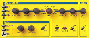 Instead of each Oscillator having its own set of controls, as on the Q keyboard, there is now one set for all three. In this and similar ways, the Q Rack manages to sport 20 fewer knobs than the keyboard.