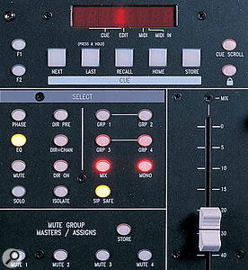 Many of the unique functions of the Spirit 324 Live can be accessed via dedicated buttons in the Master section.