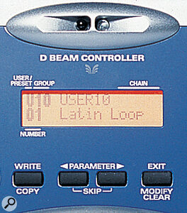 As if the ribbon controllers weren't enough, the D‑Beam provides another user‑friendly means of real‑time sound control.