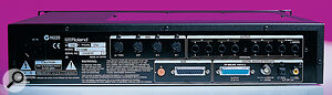 A well‑equipped rear panel offers eight analogue outs, S/PDIF digital I/O and dual MIDI ports