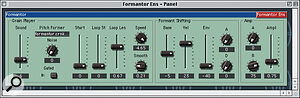 One of the many factory‑supplied synth designs for Native Instruments' Dynamo is a granular synthesis engine called Formantor.