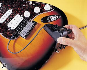 The GK2A pickup and control unit are easily fitted to a guitar.